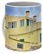 Yellow Worn Out Concrete House Coffee Mug