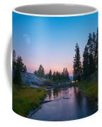 Yellowstone National Park Sunset And Moon Coffee Mug