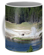 Yellowstone Park Bison In August Coffee Mug