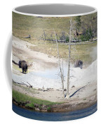 Yellowstone Park Bisons In August Coffee Mug