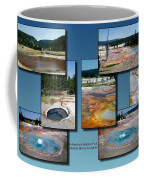 Yellowstone Park Firehole Spring In August Collage Coffee Mug