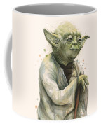 Yoda Portrait Coffee Mug by Olga Shvartsur