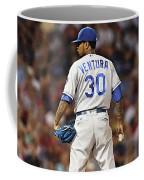 Kansas City Royals, Yordano Ace Ventura,  Painting, Forever Blue Coffee Mug