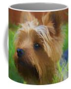 Yorkie In The Grass - Painting Coffee Mug