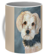 Yorkie Portrait Coffee Mug by Karen Zuk Rosenblatt