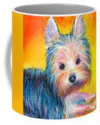 Yorkie Puppy Painting Print Coffee Mug