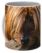Yorkshire Terrier Biting Wood Coffee Mug