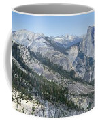 Yosemite Falls And Valley From Eagle Tower Detail - Yosemite Coffee Mug