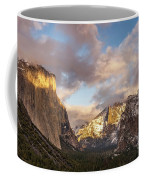Yosemite Tunnel View Sunset In Winter Coffee Mug