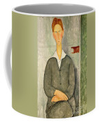 Young Boy With Red Hair Coffee Mug by Amedeo Modigliani