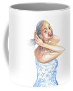 Young Cameroun Woman Tying Her Hair Coffee Mug