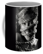 Young Expressive Woman Tied In Ropes Coffee Mug