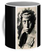 Young Faces From The Past Series By Adam Asar, No 109 Coffee Mug