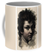 Young Faces From The Past Series By Adam Asar, No 116 Coffee Mug