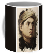 Young Faces From The Past Series By Adam Asar, No 36 Coffee Mug