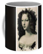 Young Faces From The Past Series By Adam Asar, No 5 Coffee Mug