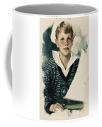 Young Faces From The Past Series By Adam Asar, No 66 Coffee Mug
