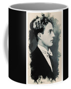 Young Faces From The Past Series By Adam Asar, No 95 Coffee Mug