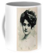 Young Faces From The Past Series By Adam Asar, No 98 Coffee Mug