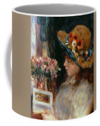 Young Girl Reading Coffee Mug by Pierre Auguste Renoir