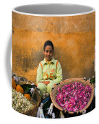 Young Girl Selling Rose Petals In The Medina Of Fes Morroco Coffee Mug