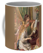 Young Girls At The Piano Coffee Mug by Pierre Auguste Renoir