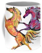 Young Horses Playing Coffee Mug