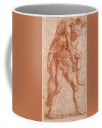 Young Man Carrying An Old Man On His Back Coffee Mug