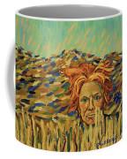 Young Man With A Corn Flower Coffee Mug