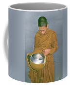 Young Monk Begging Alms And Rice, Thailand Coffee Mug