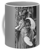 Young Monks 2 Bw Coffee Mug