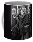 Young Monks II Bw Coffee Mug