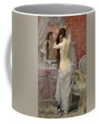 Young Nude Woman Styling In An Interior Coffee Mug