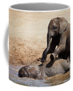 Young Playful African Elephants Coffee Mug by Nick Biemans