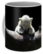 Young Polar Bear On A Log Coffee Mug