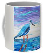 Young Seagull Coastal Abstract Coffee Mug