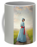 Young Victorian Woman On A Country Path Coffee Mug