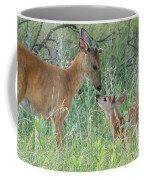 Young White-tailed Deer Say Hello Coffee Mug