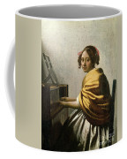 Young Woman At A Virginal Coffee Mug