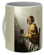 Young Woman At A Virginal Coffee Mug