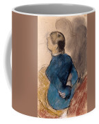 Young Woman In Blue Coffee Mug