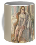 Young Woman In White Chemise Coffee Mug