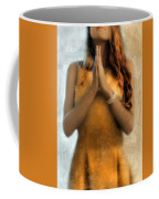 Young Woman Praying Coffee Mug