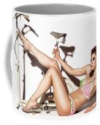 Young Woman Wearing A Swimsuit Coffee Mug