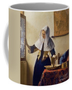 Young Woman With A Water Jug Coffee Mug by Jan Vermeer
