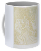 Young Woman With Butterfly Coffee Mug