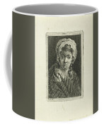 Young Woman With Hat And Curly Hair Coffee Mug