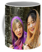 Young Women Silk Scarves 01 Coffee Mug