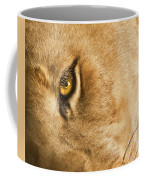 Your Lion Eye Coffee Mug by Carolyn Marshall