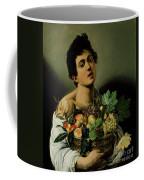 Youth With A Basket Of Fruit Coffee Mug by Michelangelo Merisi da Caravaggio